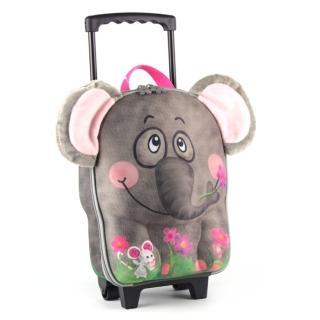 【德國 okiedog】兒童3D動物造型系列-拉桿式行李箱(大象)