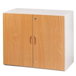 【時尚屋】二層開門式鋼木櫃兩色可選(木紋色Y107-6、胡桃色Y110-2)