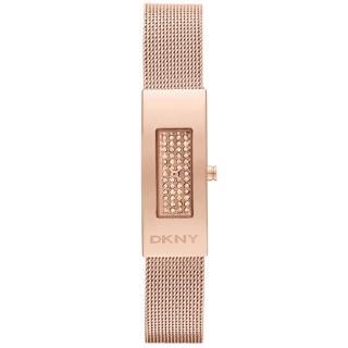 【DKNY】平凡美學都會晶鑽米蘭腕錶(玫瑰金 NY2111)