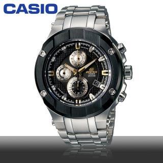 【CASIO 卡西歐 EDFICE系列】日系頂級限量三藍寶石鏡面/眼時尚鐵帶紳士款(EFX-500D-1A9)