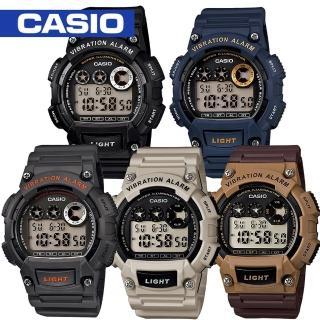 【CASIO 卡西歐】震動提示/電子數字型運動錶(W-735H)