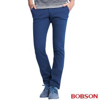 【BOBSON】男款低腰彈性直筒褲(藍50)