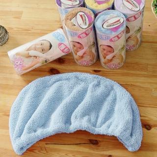 【米夢家居】台灣製造水乾乾SUMEASY開纖吸水紗-快乾護髮浴帽-藍(三入)