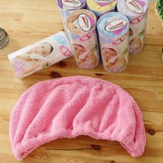 【米夢家居】台灣製造水乾乾SUMEASY開纖吸水紗-快乾護髮浴帽-粉(一入)