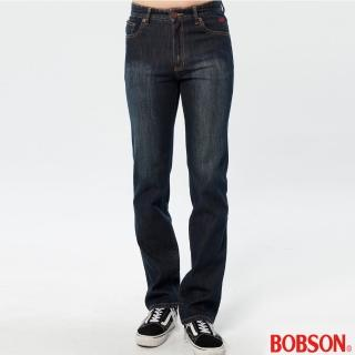 【BOBSON】男款熱感IN直筒褲(藍52)