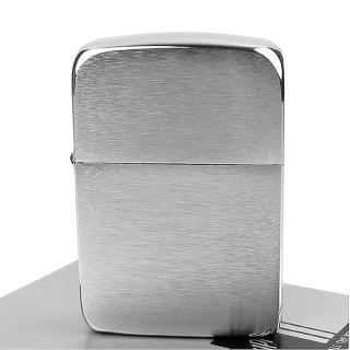 【ZIPPO】美系-1941 復刻版打火機-拉絲打磨電鍍鉻款(銀色)