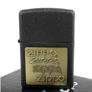 【ZIPPO】美系-四代LOGO-Pewter Emblem(黃銅貼飾)