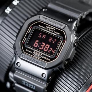 【CASIO 卡西歐】G-SHOCK 神秘暗黑經典潮流概念錶(黑-DW-5600MS-1DR)