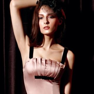 【La Felino】浪漫詩歌1/2隱鋼式罩杯款B-D罩杯馬甲(淺粉紫)
