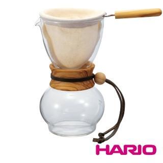 【HARIO】濾布欖橄木手沖咖啡壺480ml 3-4杯(DPW-3-OV)