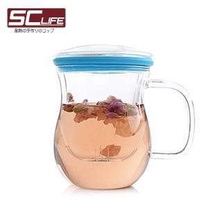 【SC life】三件式炫彩茶杯(藍色)