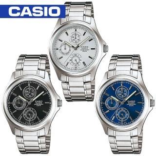 【CASIO 卡西歐】白領階級/上班族/紳士石英男錶(MTP-1246D)