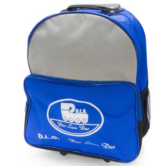 【D.L.D 多輪多】專業直排輪 溜冰鞋 專用拉桿包(藍灰色)