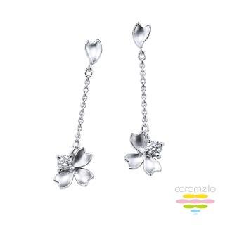 【彩糖鑽工坊】18K鑽石耳環 櫻花耳環(櫻花Sakura 系列)