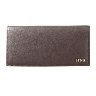 【Lynx】俐落簡約男用多卡長夾(咖/黑)