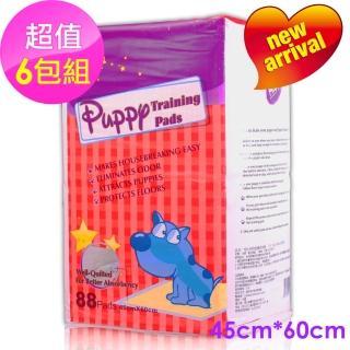 【Huppy】哈比狗狗訓練除臭抗菌尿布墊88片裝6包入(45cm*60cm-超值6包組)