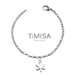 【TiMISA】花漾動感 純鈦腳鍊(S)