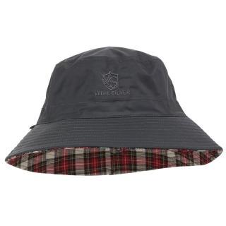 【Vital Silver 銀盾】VITAL-TEX透濕雙面時尚漁夫防水帽(橄欖綠-卡其格/防水快乾透濕)
