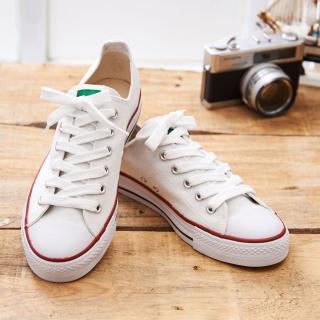 【中國強】MIT 素面休閒帆布鞋CH66(白色)