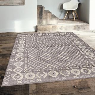 【Ambience】比利時 Kilim 絲毯(格紋140x200cm)