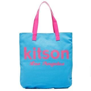 【Kitson】美式學院風方型托特包(BLUE)