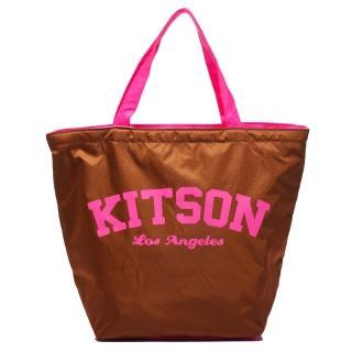 【Kitson】美式學院風寬口型托特包(BROWN)