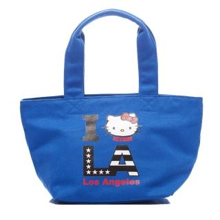 【Kitson】kitson x Kitty - Loves LA 聯名系列 帆布托特包(BLUE)