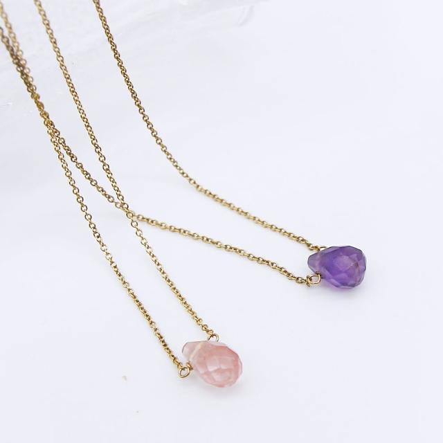 【Dogeared】美國品牌Healing Gems金色療癒寶石項鍊(多色)福利品出清