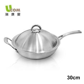 【UCOM 瑞康屋】新都會複合金炒鍋30cm