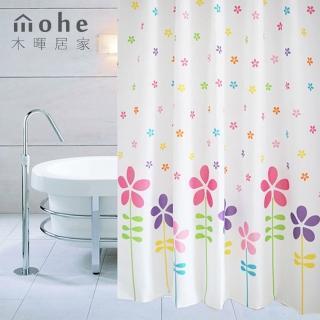 【御工匠】時尚高級加厚型防水浴簾-七彩花朵
