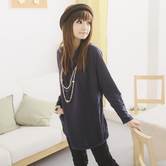 【衣心衣意】時尚裝扮-翻領抓摺口袋寬版洋裝(藍-紫FA2A3073)推薦文