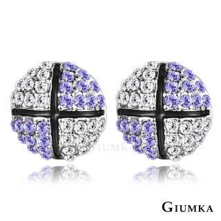 【GIUMKA】滾動愛情耳釘耳環  精鍍正白K  名媛淑女款 MF04089-4(紫水晶)