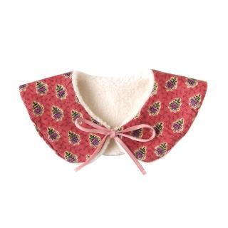 【SOULEIADO】芙蓉花2WAY保暖領巾(紅)