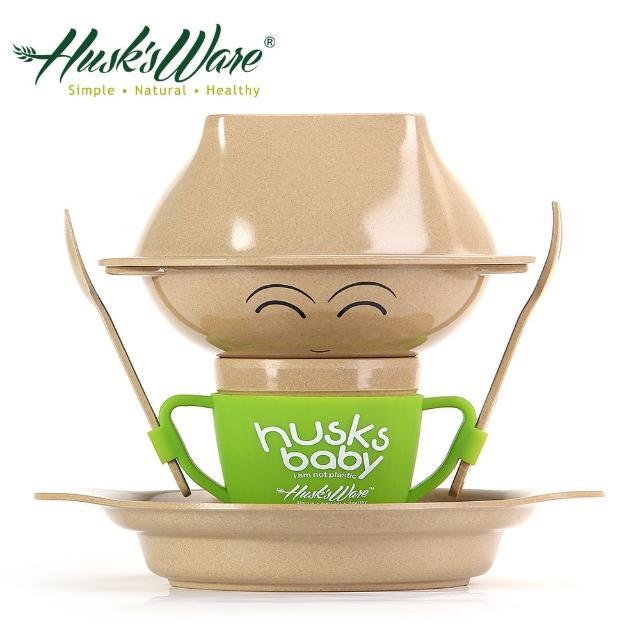 【美國Husk's ware】稻殼天然無毒兒童環保餐具人偶組
