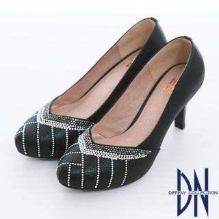 【DN】璀璨奢華 耀眼鑽飾V口高跟晚宴鞋(黑)