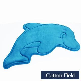【棉花田】海豚舒壓記憶綿吸水防滑造型踏墊(52x84cm)