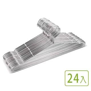 【VICTORY】不鏽鋼嚴選衣架#台灣製造(24入組)