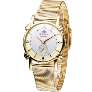 【Rosemont】玫瑰錶戀舊系列 優雅時尚腕錶(TN-003-GD-MT1)