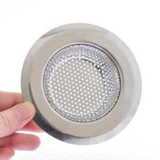 【PUSH! 廚房用品】外徑9CM內徑5.8CM深度2CM密合式不鏽鋼流理台水槽濾網(HD1017)