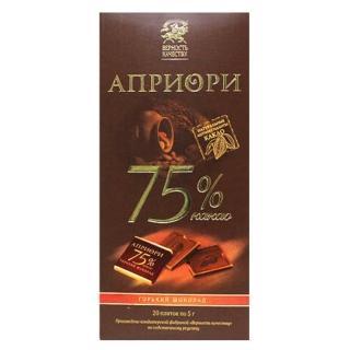 【俄羅斯金牌獎BK】75%黑巧克力100g