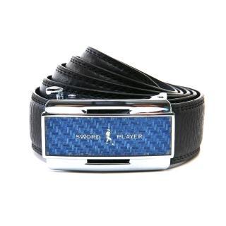 【SWORD PLAYER】莎普爾蔚藍款皮革式自動扣皮帶