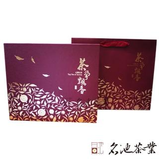 【名池茶業】茶孕飄香鮮採茶葉禮盒組(福壽梨山/梨山150克x2罐)