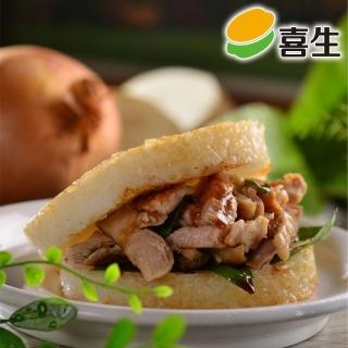 【鮮食家任選799】喜生三杯雞米漢堡(160g*3入/盒)