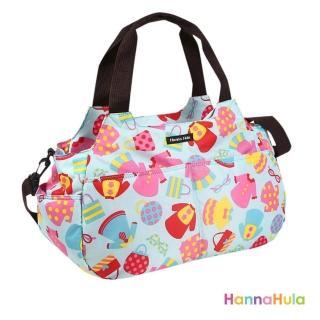 【日本Hanna Hula】棉花糖二用媽媽包/空氣包(洋裝藍)