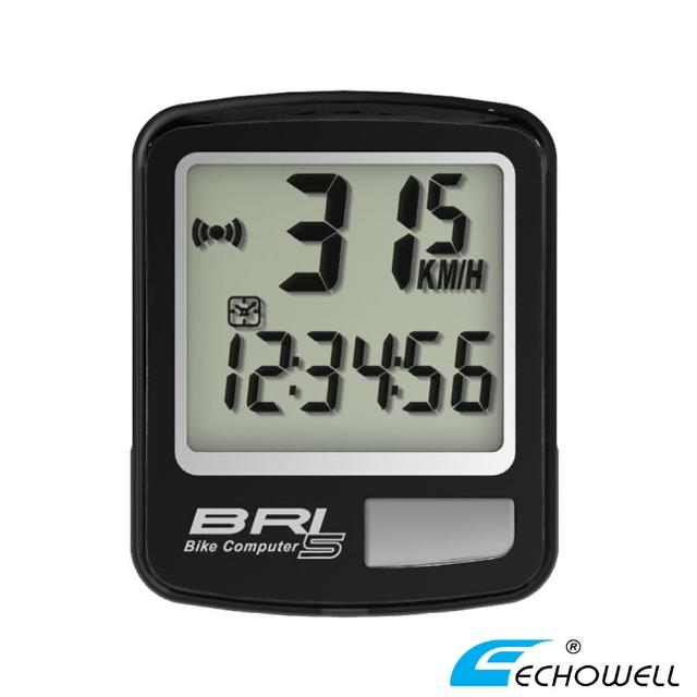 【ECHOWELL】BRI-5 多功能自行車有線碼錶(黑)