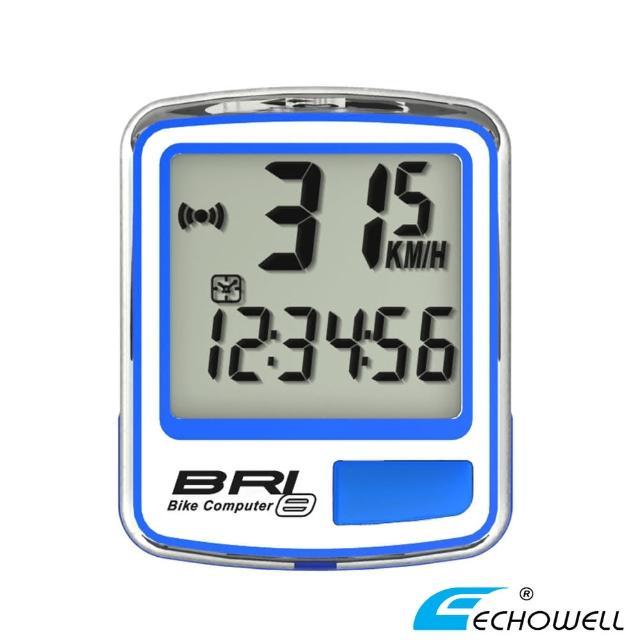 【ECHOWELL】BRI-8 多功能自行車有線碼錶(藍)