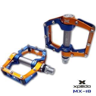 【XPEDO】MX18 吸震式鋁合金腳踏(金藍)