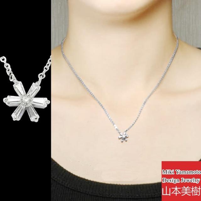 【山本美樹】瑪格麗特 白色小花奧地利水晶項鍊(兩色)
