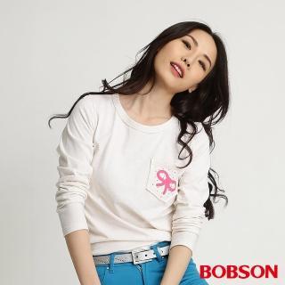 【BOBSON】女款印圖五彩紗長袖上衣(五彩34098-03)