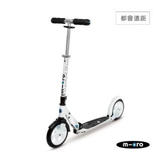 【瑞士第一 Micro】Black 兩輪成人滑板車(200mm大輪徑滑板車)